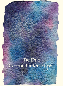 Handmade paper sample